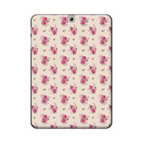 薄い紫を背景にした花束・パターン Samsung Galaxy Tab S2 9.7 ポリカーボネート ハードケース