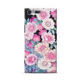 和の花柄 Sony Xperia XZ Premium ポリカーボネート ハードケース