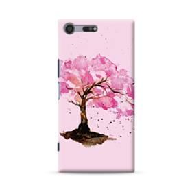 水彩画・桜の木 Sony Xperia XZ Premium ポリカーボネート ハードケース