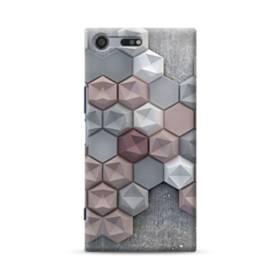 つぶつぶ六角形 Sony Xperia XZ Premium ポリカーボネート ハードケース
