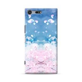 桜の花びら Sony Xperia XZ Premium ポリカーボネート ハードケース