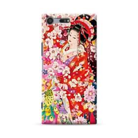 和・花魁&桜 Sony Xperia XZ Premium ポリカーボネート ハードケース