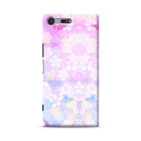 爛漫・抽象的な桜の花 Sony Xperia XZ Premium ポリカーボネート ハードケース