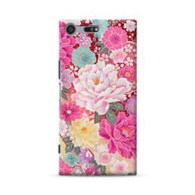 和の花柄:牡丹 Sony Xperia XZ Premium ポリカーボネート ハードケース