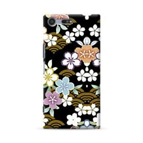 和風・桜&浪 Sony Xperia XZ Premium ポリカーボネート ハードケース