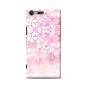 爛漫・ピンク&桜色 Sony Xperia XZ Premium ポリカーボネート ハードケース