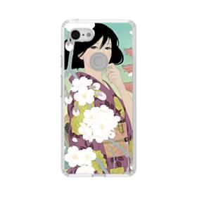 ザ・桜&ジャパンガール! Google Pixel 3 シリコーン クリアケース
