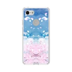 桜の花びら Google Pixel 3 シリコーン クリアケース