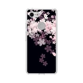 爛漫・桜 Google Pixel 3 シリコーン クリアケース