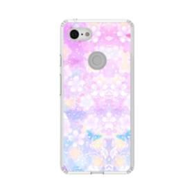 爛漫・抽象的な桜の花 Google Pixel 3 シリコーン クリアケース