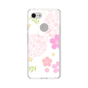 桜の形・いろいろ Google Pixel 3 シリコーン クリアケース