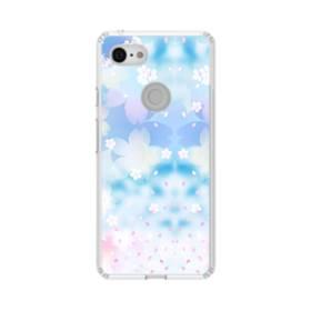 爛漫桜の花 Google Pixel 3 シリコーン クリアケース