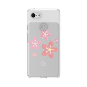 春・桜の花002 Google Pixel 3 シリコーン クリアケース