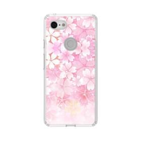 爛漫・ピンク&桜色 Google Pixel 3 シリコーン クリアケース