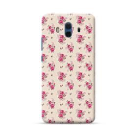 薄い紫を背景にした花束・パターン Huawei Mate 10 ポリカーボネート ハードケース