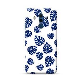 ブルー系リーフのモチーフ Huawei Mate 10 Pro ポリカーボネート ハードケース
