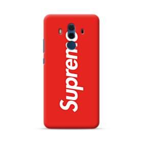 ニューヨークより赤のシュプリーム(super me) Huawei Mate 10 Pro ポリカーボネート ハードケース