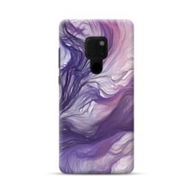 優雅な紫とブルー 抽象的な水彩絵 Huawei Mate 20 ポリカーボネート ハードケース