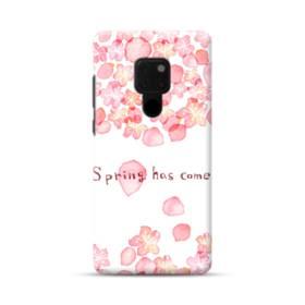 桜&デザイン英文 Huawei Mate 20 ポリカーボネート ハードケース