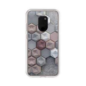つぶつぶ六角形 Huawei Mate 20 X ポリカーボネート クリアケース