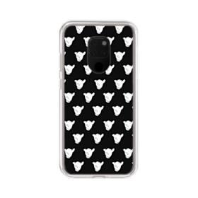 白黒系パターン Huawei Mate 20 X ポリカーボネート クリアケース