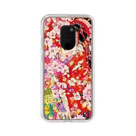 和・花魁&桜 Huawei Mate 20 X ポリカーボネート クリアケース