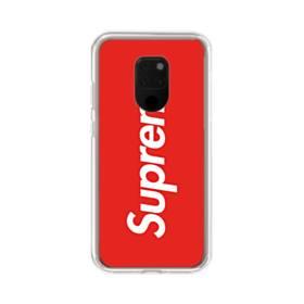 ニューヨークより赤のシュプリーム(super me) Huawei Mate 20 X ポリカーボネート クリアケース