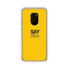 デザイン アルファベット:say Huawei Mate 20 X ポリカーボネート クリアケース