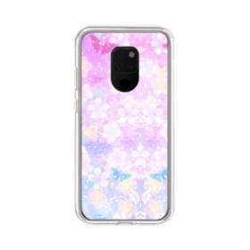爛漫・抽象的な桜の花 Huawei Mate 20 X ポリカーボネート クリアケース