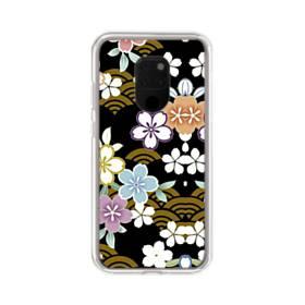 和風・桜&浪 Huawei Mate 20 X ポリカーボネート クリアケース