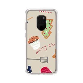 メリー クリスマス スイーツ モチーフ Huawei Mate 20 X ポリカーボネート クリアケース