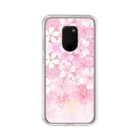 爛漫・ピンク&桜色 Huawei Mate 20 X ポリカーボネート クリアケース
