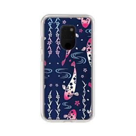 和柄:桜&錦鯉 Huawei Mate 20 X ポリカーボネート クリアケース