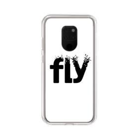 デザイン アルファベット:fly Huawei Mate 20 X ポリカーボネート クリアケース