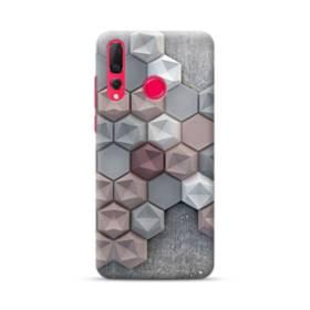 つぶつぶ六角形 Huawei Nova 4 ポリカーボネート ハードケース