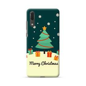 メリー クリスマス ツリー&プレゼント Huawei P20 ポリカーボネート ハードケース