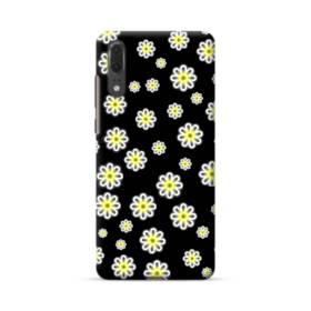 キュートな花のモチーフ Huawei P20 ポリカーボネート ハードケース