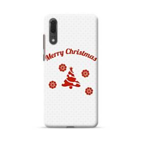 メリー クリスマス デザイン ツリー Huawei P20 ポリカーボネート ハードケース