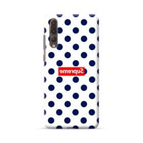 紺のドット&真っ逆になったスーパー ミ(super me) Huawei P20 Pro ポリカーボネート ハードケース