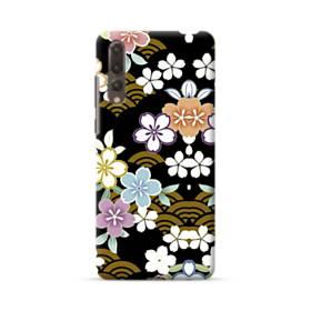 和風・桜&浪 Huawei P20 Pro ポリカーボネート ハードケース