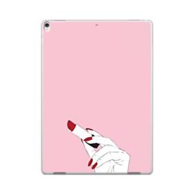 女の子の口紅と赤い爪 iPad Pro 12.9 (2017) ポリカーボネート ハードケース