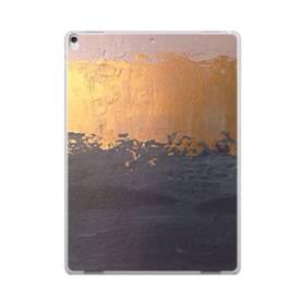 アート・三色(ホワイト・ゴールド・紺) iPad Pro 12.9 (2017) ポリカーボネート ハードケース