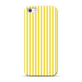 しましま イエロー iPhone 5S, 5 ポリカーボネート ハードケース