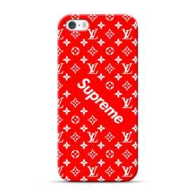 ルイ・ヴィトン&シュプリーム赤バージョン) iPhone 5S, 5 ポリカーボネート ハードケース