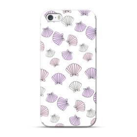 アジサイ色の貝殻のモチーフ iPhone 5S, 5 ポリカーボネート ハードケース