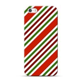 メリー クリスマス ストライプ パターン iPhone 5S, 5 ポリカーボネート ハードケース