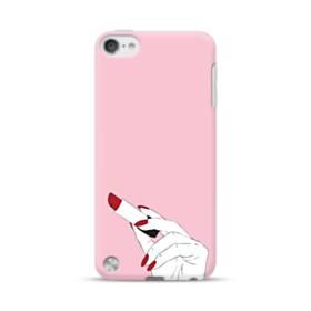女の子の口紅と赤い爪 iPod Touch 5 ポリカーボネート ハードケース