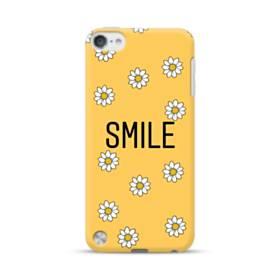 キュートな花のモチーフ&デザイン アルファベット スマイル iPod Touch 5 ポリカーボネート ハードケース