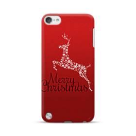 デザイン メリー クリスマス トナカイ&スノー iPod Touch 5 ポリカーボネート ハードケース