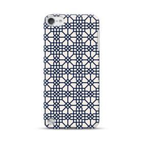 紺とピンクの幾何図パターン iPod Touch 5 ポリカーボネート ハードケース